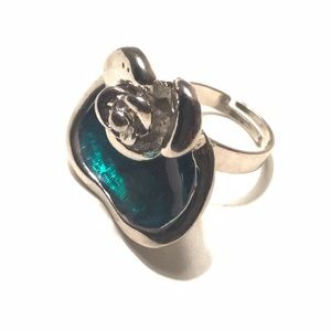 Jewelry - Fashion Ring Floral Silver Adjustable 7+